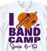 Band Camp T Shirt - I Love Band Camp - desn-476l1