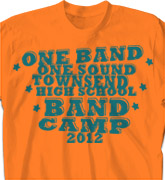 Band Camp T Shirt - Statement - clas-787u3
