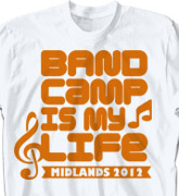 Band Camp T Shirt - Band Life Slogan - desn-475b1