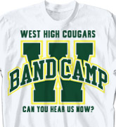 Band Camp T Shirt - Varsity Arch - desn-352v2