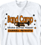 Band Camp T Shirt - Stars Fun Day - desn-466s2