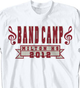 Band Camp T Shirt - Classic Square Banner desn-344c4