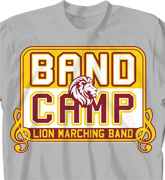 Band Camp T Shirt - Music Logo - cool-624m1