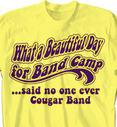 Band Camp T Shirt - Beautiful Day - cool-621b1
