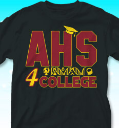 College Bound Shirt Designs - Ready 4 College - cool-850r1