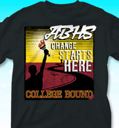 College Bound Shirt Designs - Light Your Path 2 - cool-757l3