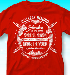 College Bound Shirt Designs - Education is Power - cool-784e4