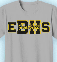 Football T-Shirt Designs - Athletic Letters - desn-264a5