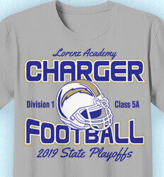 Football T-Shirt Designs - Football Playoff Charge - idea-50f1