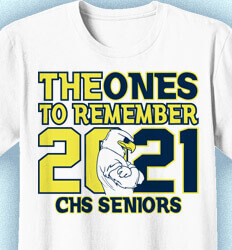 Senior Class T Shirt Design - Ones to Remember - cool-218p5