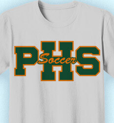 Soccer Team Shirt - Athletic Letters - desn-264a3