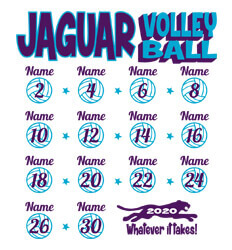 Volleyball Shirt Designs - Volley Stars Roster - idea-224v1
