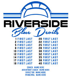 Volleyball Roster Designs - Volley Stripe Roster - idea-221v1