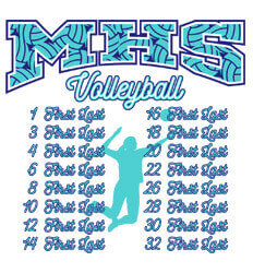 Volleyball Roster Designs - Lady Volley Roster - idea-226l1