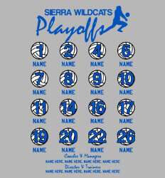 Volleyball Roster Designs - Volleyball Playoffs Roster - idea-225v1