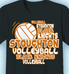 Volleyball Shirt Designs - Volley Words - idea-202v1