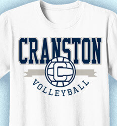 Volleyball T-Shirt Designs - College V-Ball - idea-231c1