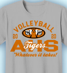 Volleyball T-Shirt Designs -Tiger Eye Classic - idea-14t2