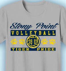 Volleyball T-Shirt Designs - Volleyball Pride Band - idea-229v1