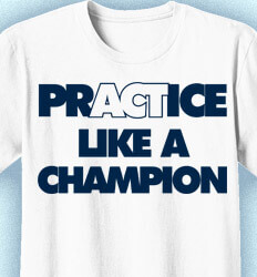 Volleyball T-shirts - Practice Like A Champion - idea-216p1