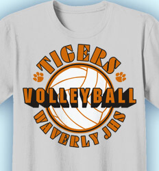 Volleyball T-shirts - Volley Stencil - desn-693v3