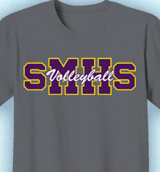 Volleyball Team Shirts - Athletic Letters - desn-264b5