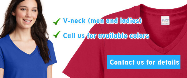 Ladies and Mens V-neck T-Shirts